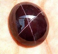 Звездчатый гранат 23,20 карат  круглой формы  от студии LadyStyle.Biz