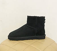 Угги женские мини классические WOMEN'S CLASSIC MINI UGG® Australia черные замшевые