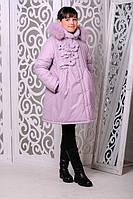 Зимняя теплая куртка «Герда» на девочку 7-11 лет (зимняя коллекция 2017/18 размер 38-40/140-146 см) ТМ MANIFIK Фрес