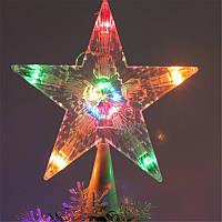 Светодиодная Новогодняя звезда на елку , фото 1