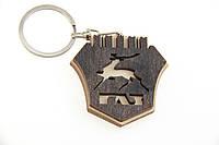 Брелок для ключей деревянный с резным логотипом ГАЗ (ГАЗ)