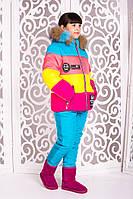 Теплый  (Лыжный) зимний комбинезон+куртка  на девочек от 7 лет до 16лет, фото 1