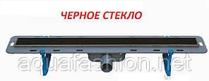 Душевой трап 80 см с черной стеклянной накладкой WINKIEL Ekoline Vetro