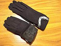 Перчатки трикотажные с начесом черные
