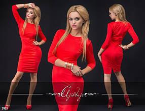 Эфектное облегающее платье