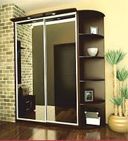 Шкаф-купе с зеркальными дверьми Альфа Standart 600