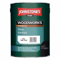 Полиуретановый алкидный лак Johnstone's Floor Varnish Satin с шелковым эффектом, 5 л