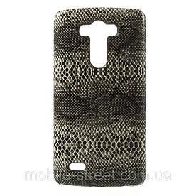 "Чехол накладка пластиковый на LG G3 D850 D855, ""Черная змея"""