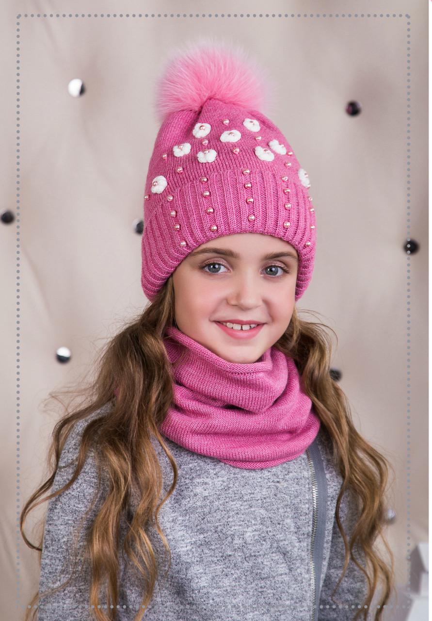 Комплект для девочки (шапка/снуд)