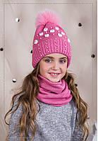 Комплект для девочки (шапка/снуд), фото 1