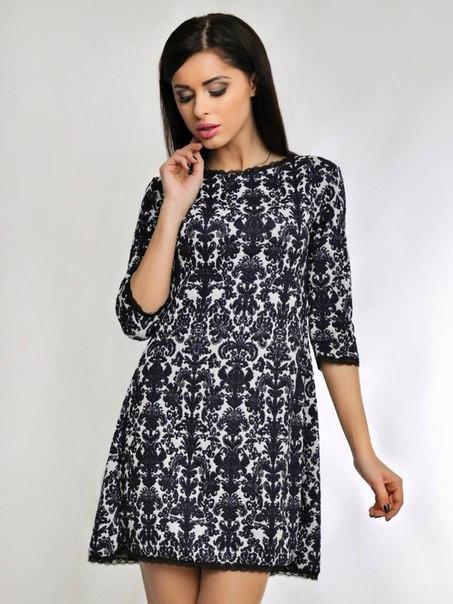 Необыкновенное жакардовое  платье