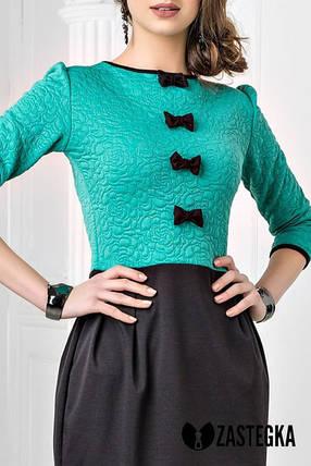 Трикотажное  платье  с бантиками  , фото 2