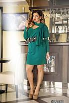 Изумительное ангоровое  платье  с шарфом    +48, фото 2