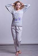 Теплая женская пижама на байке Турция LA-1005