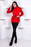 """Пальто демисезонное """"Старк 1548""""  Красный"""