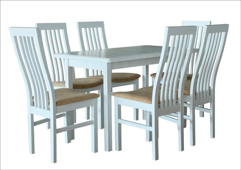 Стол обеденный Сид белый 120(+30)х70х75 прямоугольный деревянный раскладной