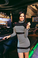 Шикарное трикотажное платье с сеточкой