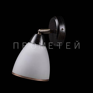 Бра спот на 1 лампочку (черный). P3-53722/1W/BK+AB+WT