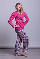 Теплая женская пижама на байке Турция LA-1006