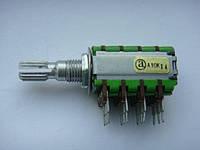 Потенциометр ALPHA номинал A10K (10kOм) 12 контактов для кроссоверов, процессоров, фото 1