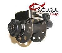 Катушка Pelengas для подводной охоты 55 мм (алюминиевая с нержавеющим кронштейном)