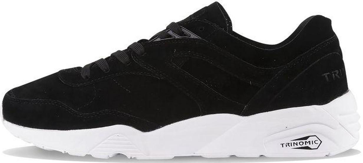 Мужские кроссовки Puma R698 Soft Suede Black, Пума Р698