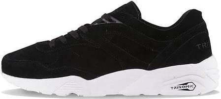 Мужские кроссовки Puma R698 Soft Suede Black, Пума Р698, фото 2