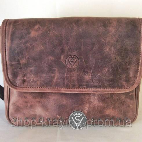 Сумка женская VS142 vintage brown 31х22х7см