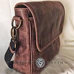 Сумка женская VS142 vintage brown 31х22х7см, фото 3