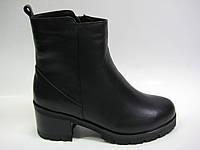Кожаные зимние ботинки на каблуке ТМ Камея, фото 1