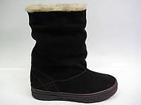 Замшевые ботинки сливового цвета ТМ Камея