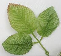 Листья розы двойные  2 шт (большие), фото 1