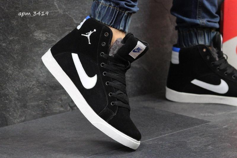 ab86c43be85d1d Чоловічі зимові кросівки Nike Jordan (3419) чорно-білі - Камала в  Хмельницком