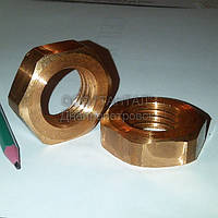Гайка медная шестигранная низкая М30 ГОСТ 5916-70 производство ТАНТАЛ медь М2