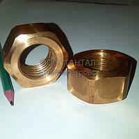 Гайка медная шестигранная М30 ГОСТ 5915-70 производство ТАНТАЛ медь М2
