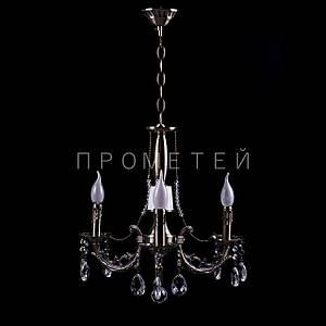"""Класична люстра """"свічка"""" на 3 лампочки. P3-72715/3P/AB"""
