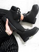 Зимние женские ботинки Timberland Black 7022