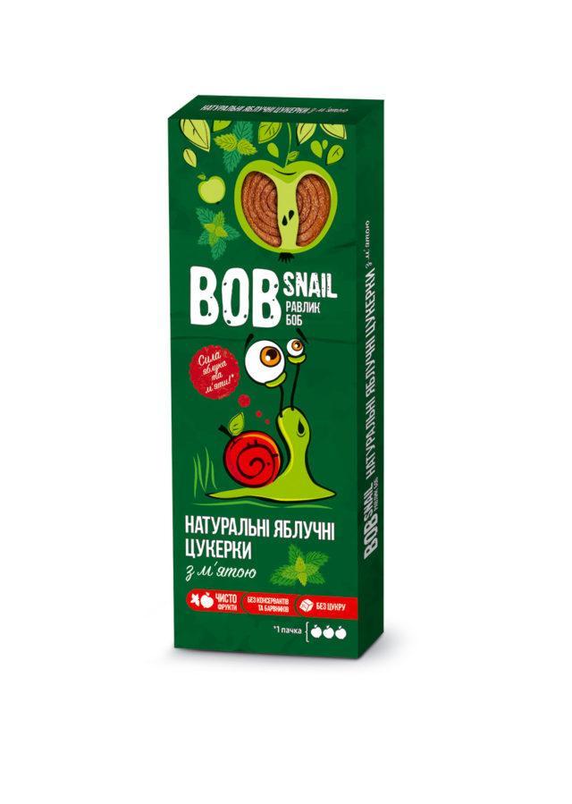 Натуральные яблочные конфеты с мятой Bob Snail Равлик Боб, 30г