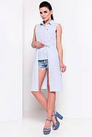 "Рубашка ""Элизе 3074"" Голубой/белый полоска 2/2"