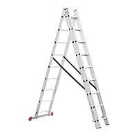 Лестница алюминиевая 3-х секционная универсальная раскладная INTERTOOL LT-0309