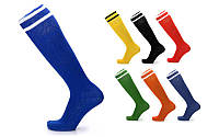 Гетры футбольные мужские 5607, 7 цветов: 40-45 размер, х/б + нейлон