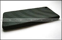 Cиликоновый чехол для Lenovo Tab 3 plus 7703x черный полноразмерный бампер