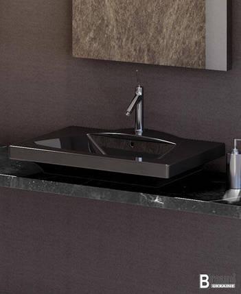 Умывальник IDEVIT Vega (2801-0505-07) черный, (50*65), фото 2