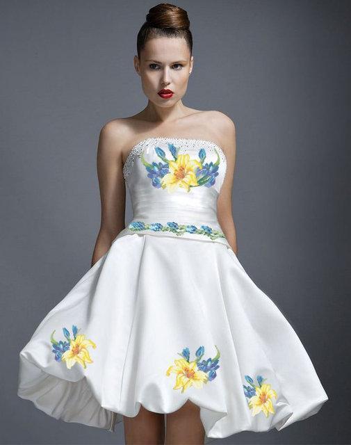 Вышитое женское платье (заготовка) СШ-14