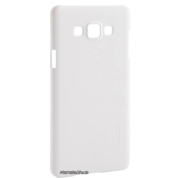 Nillkin Super Frosted Shield пластиковый чехол-накладка для Samsung A7/A710 Белая