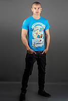 Мужская футболка Попей (синий)