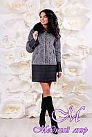 Женское стильное зимнее пальто (р. 44-56) арт. 1059 Тон 103