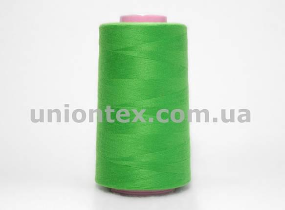 Нитка швейная 777 40/2 зеленая, фото 2