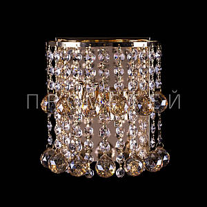 Кришталеве бра на 2 лампочки (золото). P5-B0171/2W/FG+AM