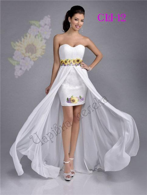 Вышитое женское платье (заготовка) СШ-12